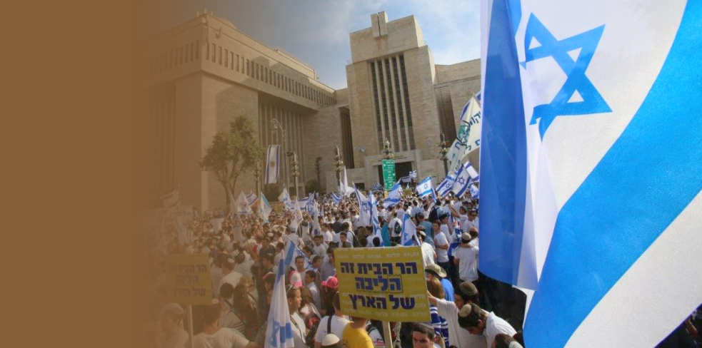 Demanding Jewish civil and religious rights, Israeli sovereignty on the Temple Mount